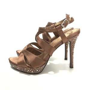 BROWN HIGH HEELS SANDALS